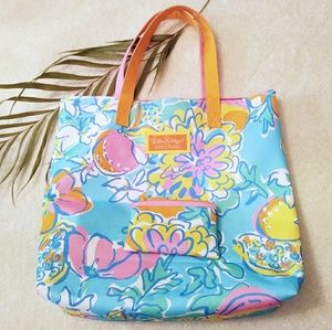 Lilly Pulitzer for Estee Lauder tote + coin purse